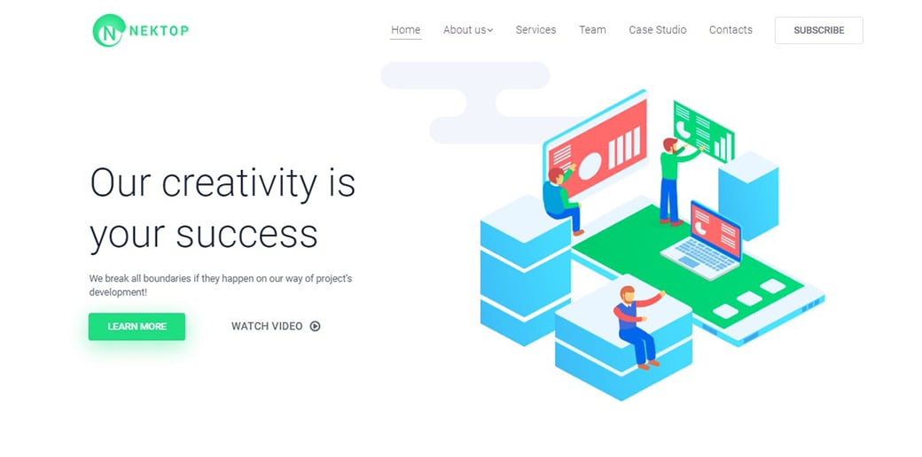 website builder for freelancers - graphic studio
