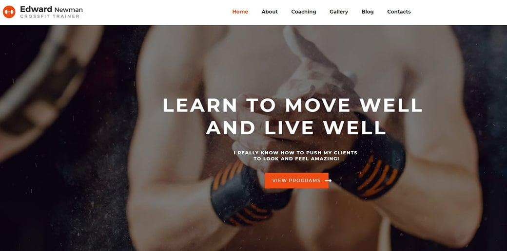 website builder for freelancers - trainer