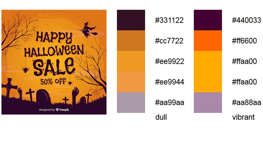 Orange Palitre halloween-farben