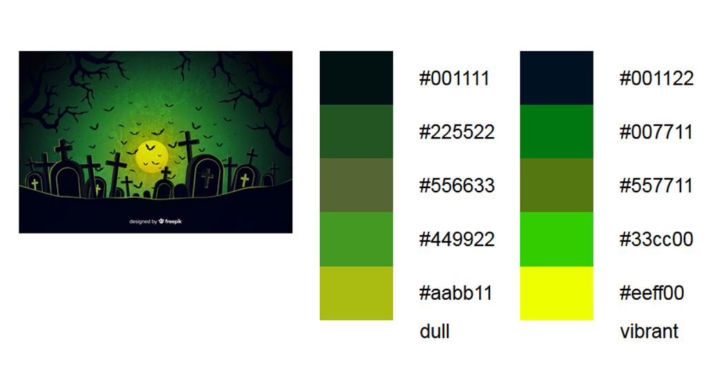 Grün halloween-farben