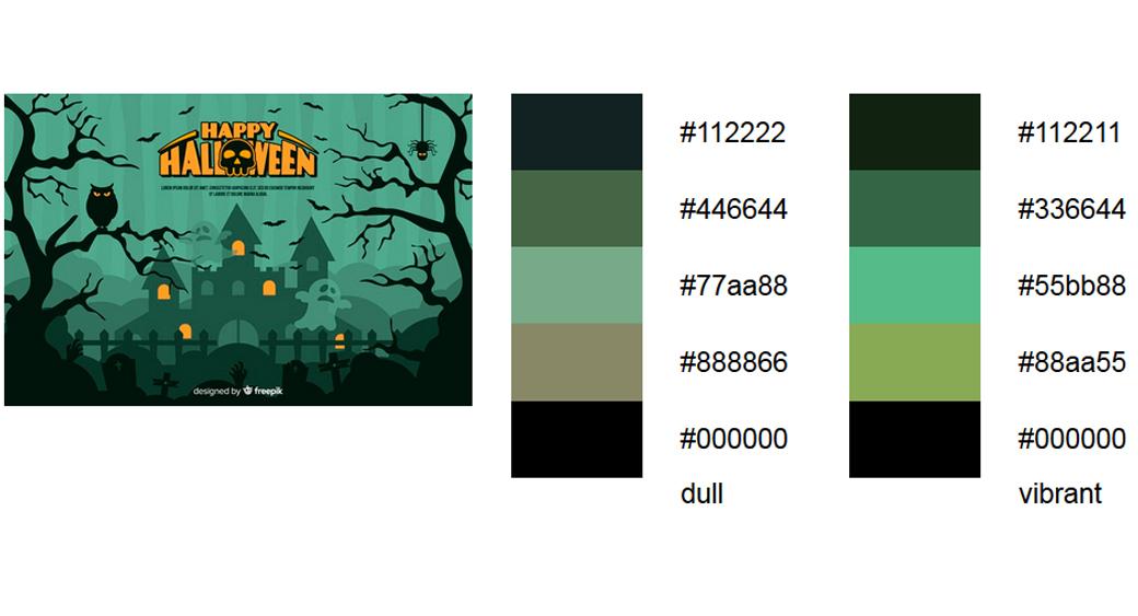 Grün Halloween Farbschema 2