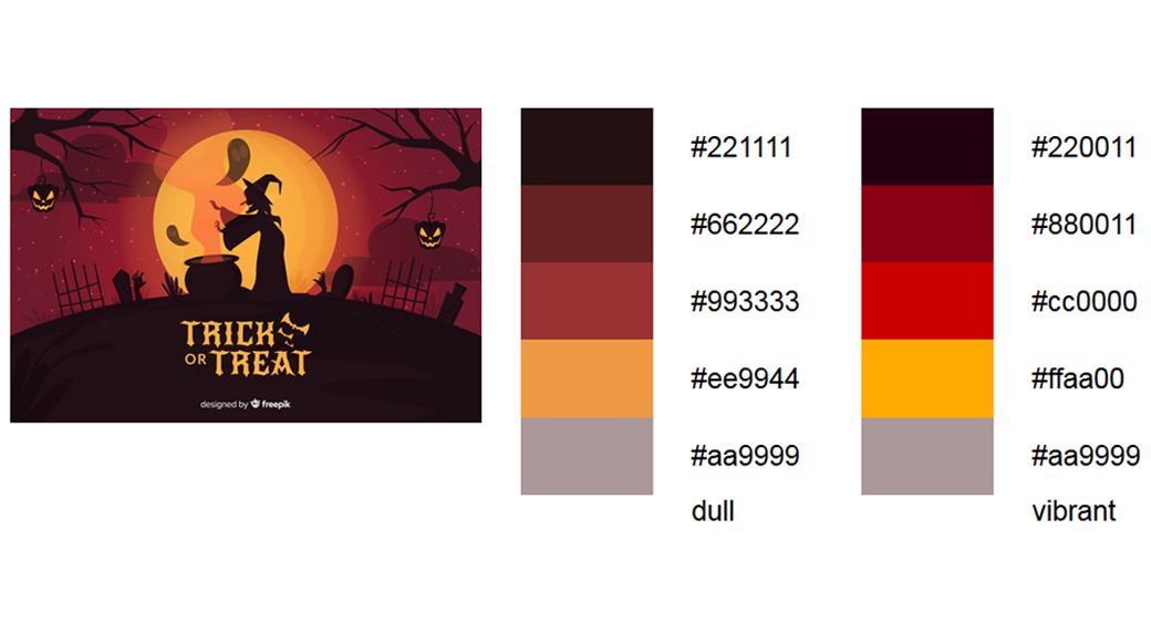 Rot Halloween Farbschema 3