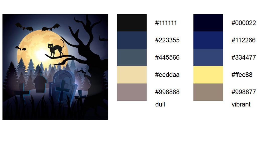 Halloween Schwarz Palette 4