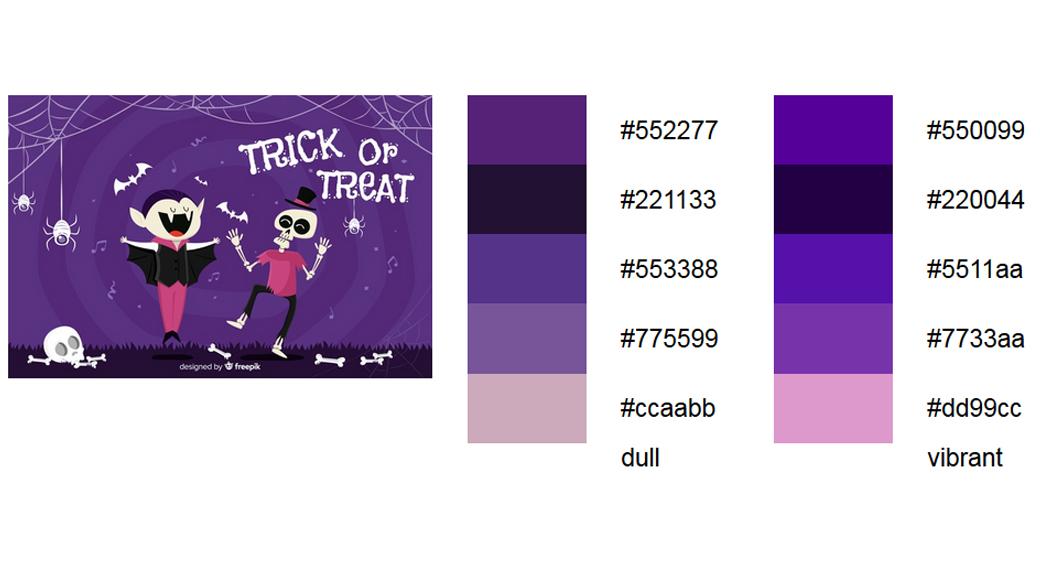 Violett halloween-farben