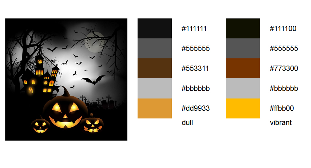Halloween Schwarz Palette 3