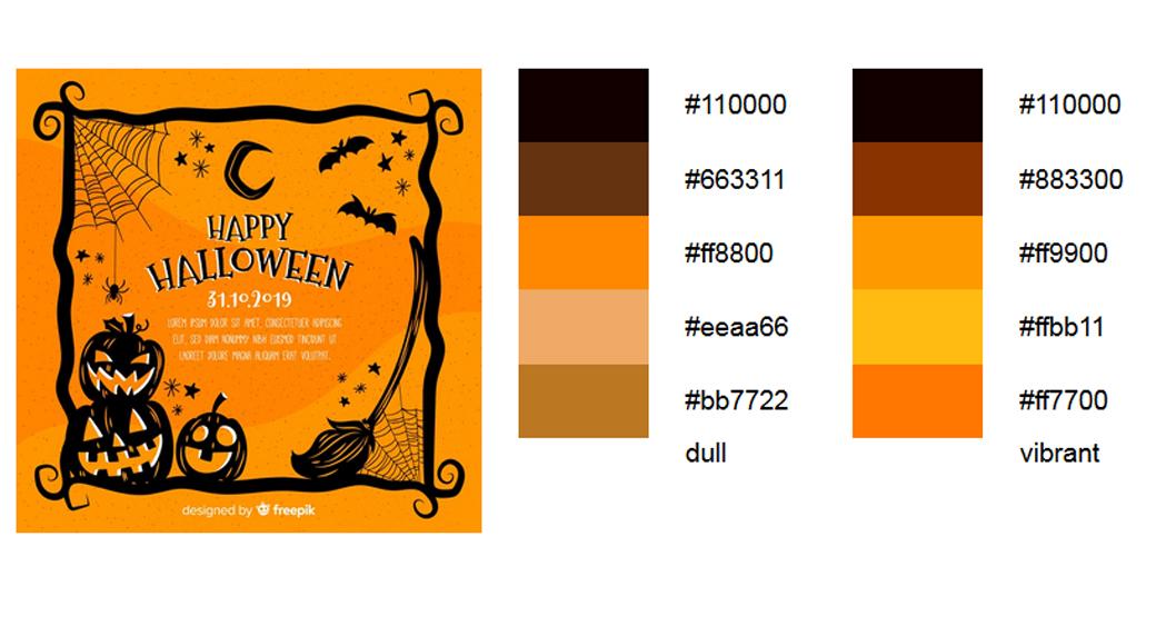 Orange Halloween Palitre 3