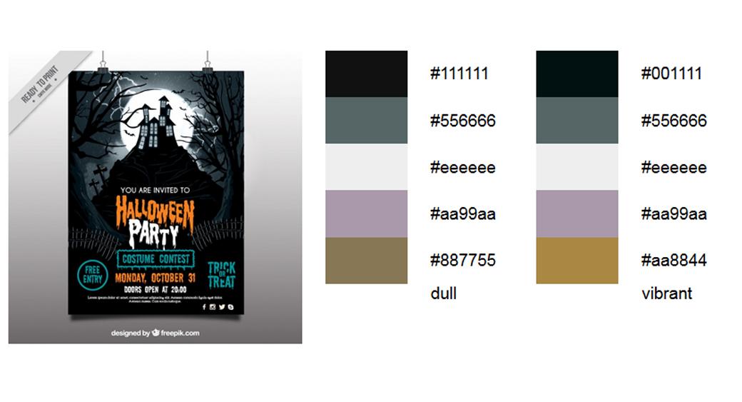 Halloween Schwarz Palette 2