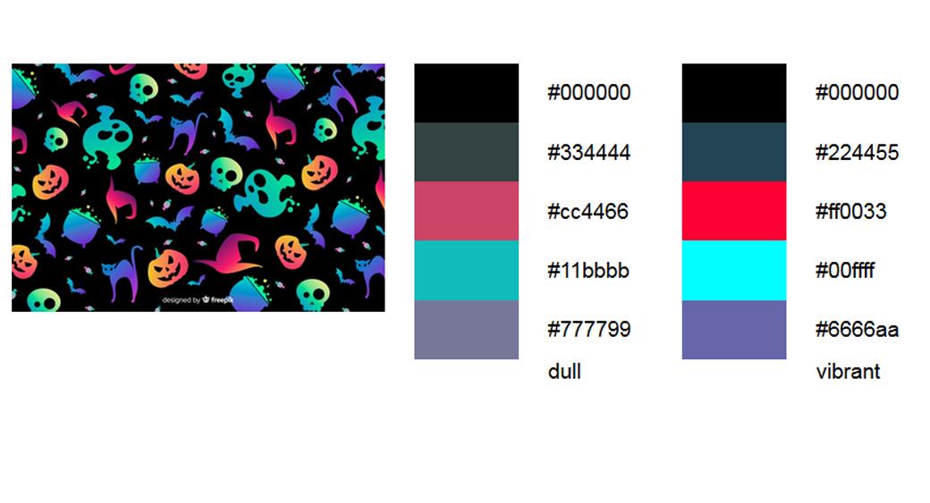 halloween-farben Schwarz Palette