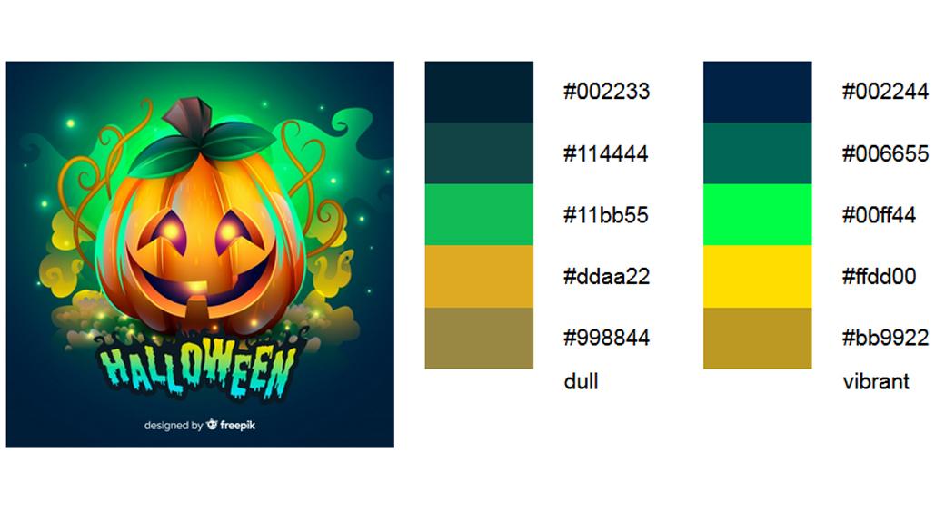 Grün Halloween Farbschema 3