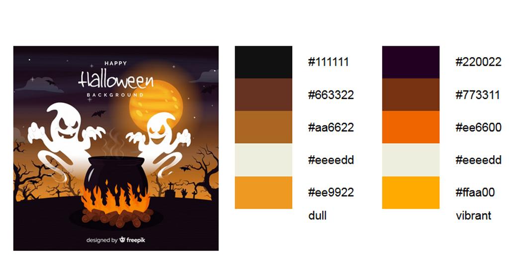 Orange Halloween Palitre 1