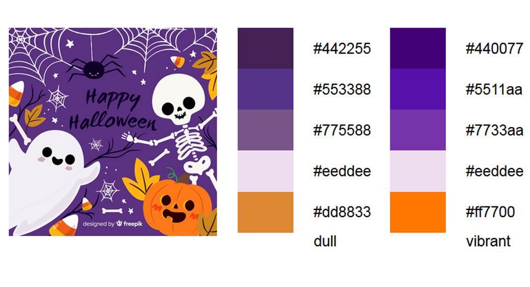 Violett Halloween Farbschema 3