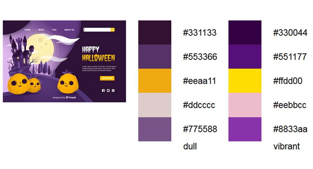 Violett Halloween Farbschema 2