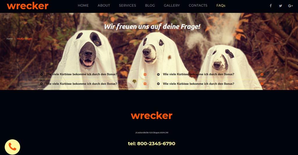 halloween farben auf der website