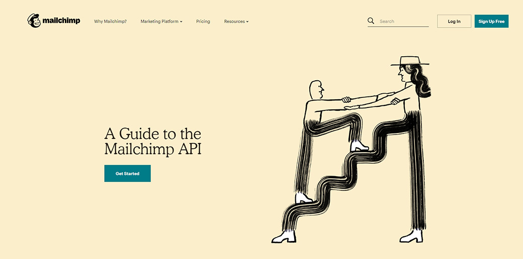 MailChimp - most popular APIs for emails