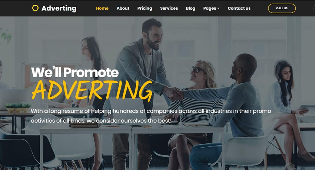 advertising agency template