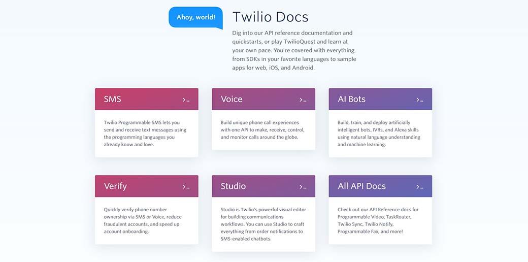 Twilio Docs API