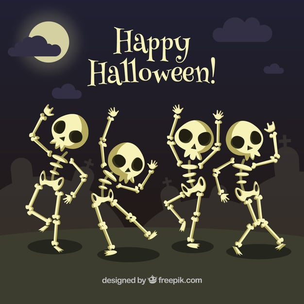 Tanzende Skelette