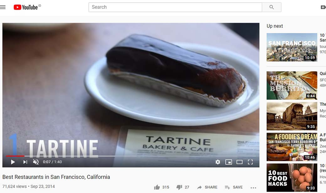 restaurants video - why video marketing is important