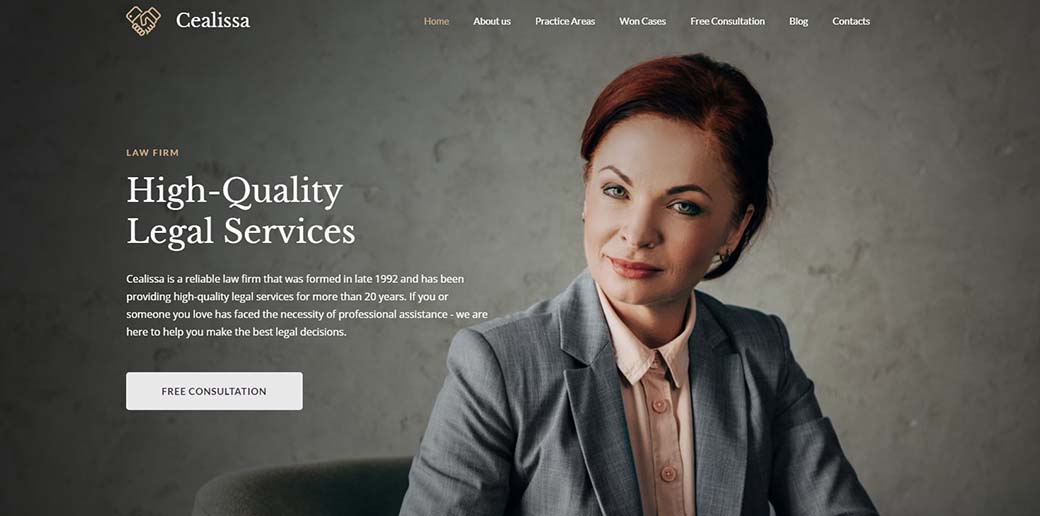 Cealissa - law firm website design for lawyers and attorneys
