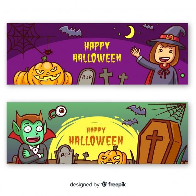 Kreative Halloween-Banner