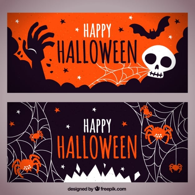 Dekorative Halloween-Banner