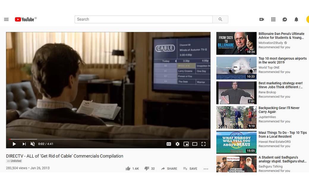 video marketing importance - direct tv