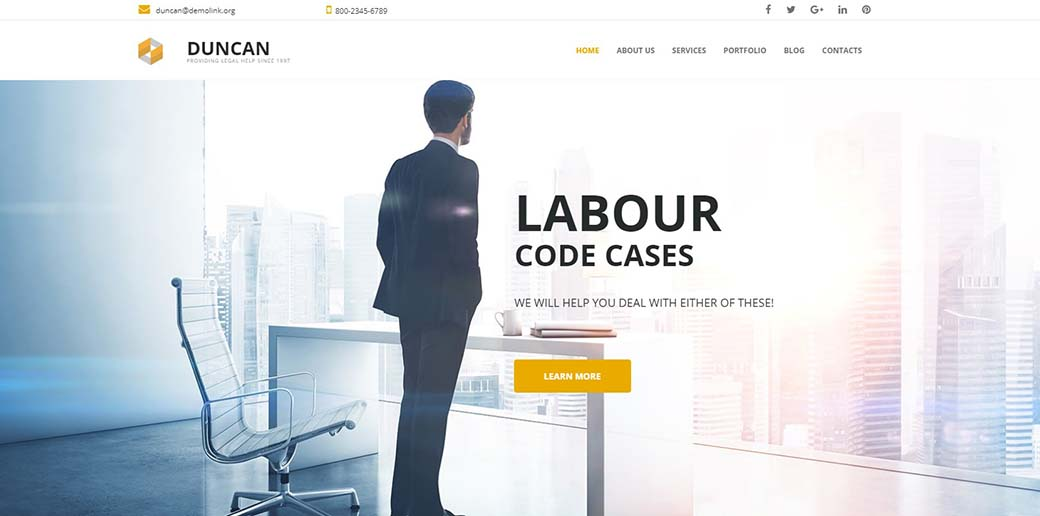 legal help - law firm website template