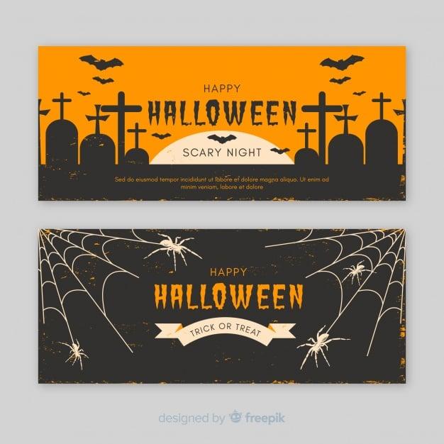 Vintage-Banner für Halloween