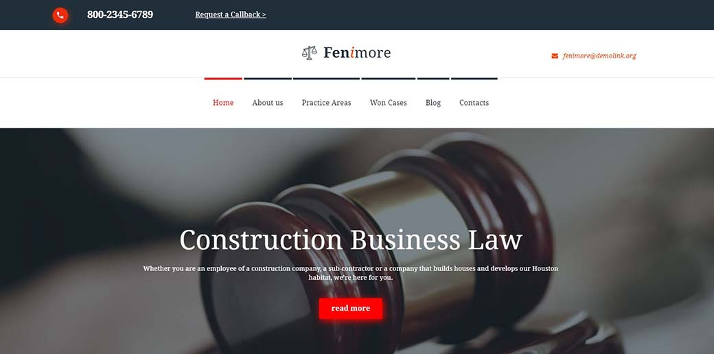 law firm web template for legal advice site