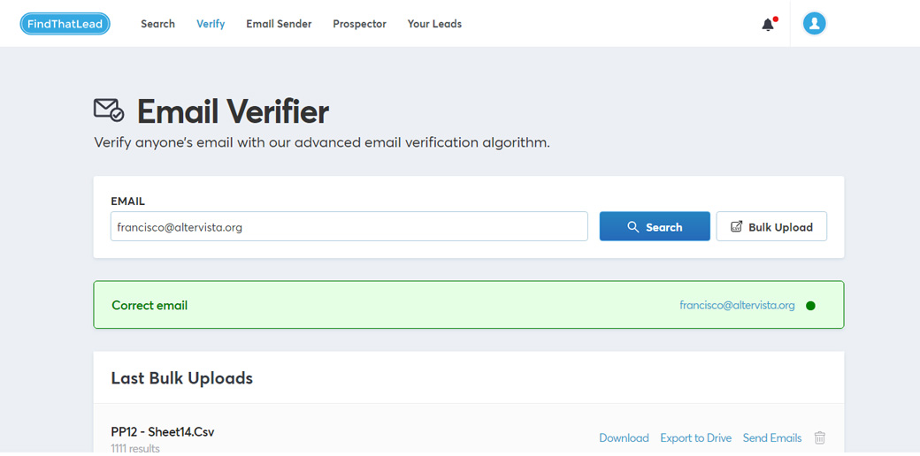 FindThatLead - email verifier