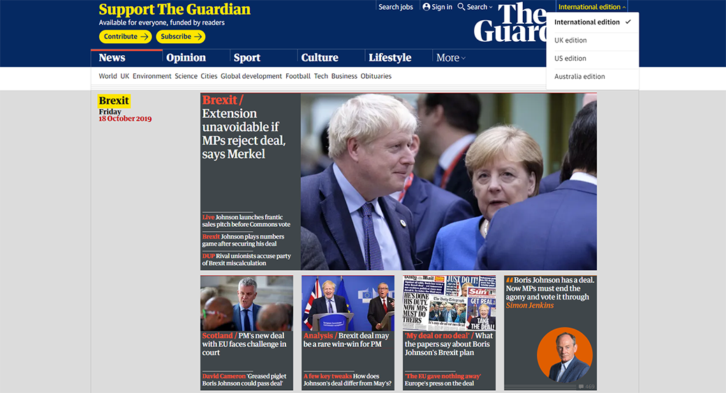 dynamic website theguardian