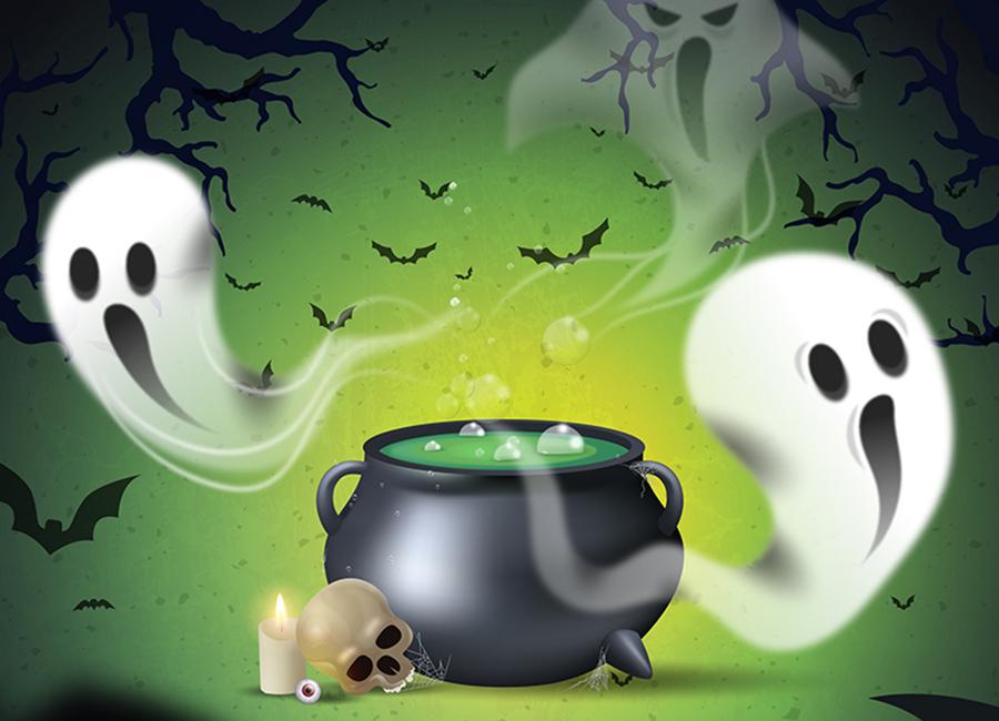 Halloween-Farben – Gruseliges Ambiente und kostenlose Vektorbilder