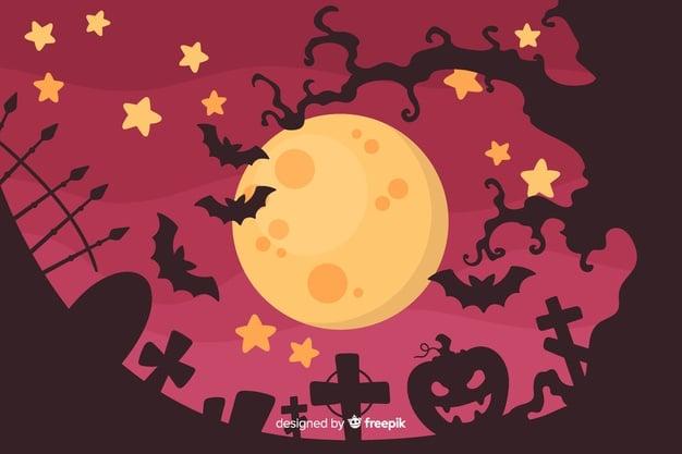Friedhof an Halloween