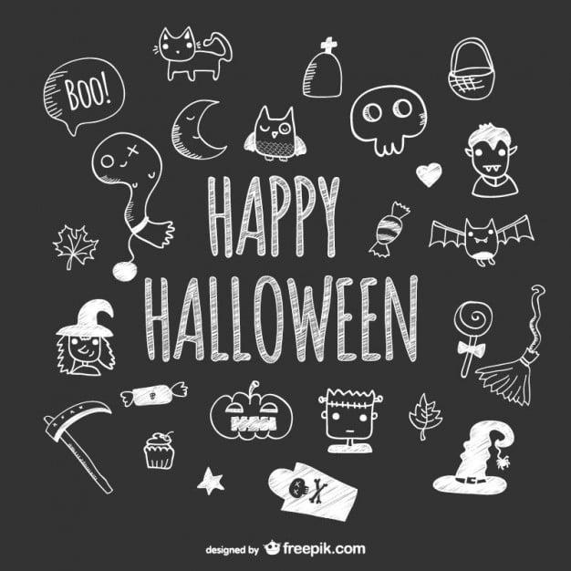 Gezeichnete Halloween-Icons