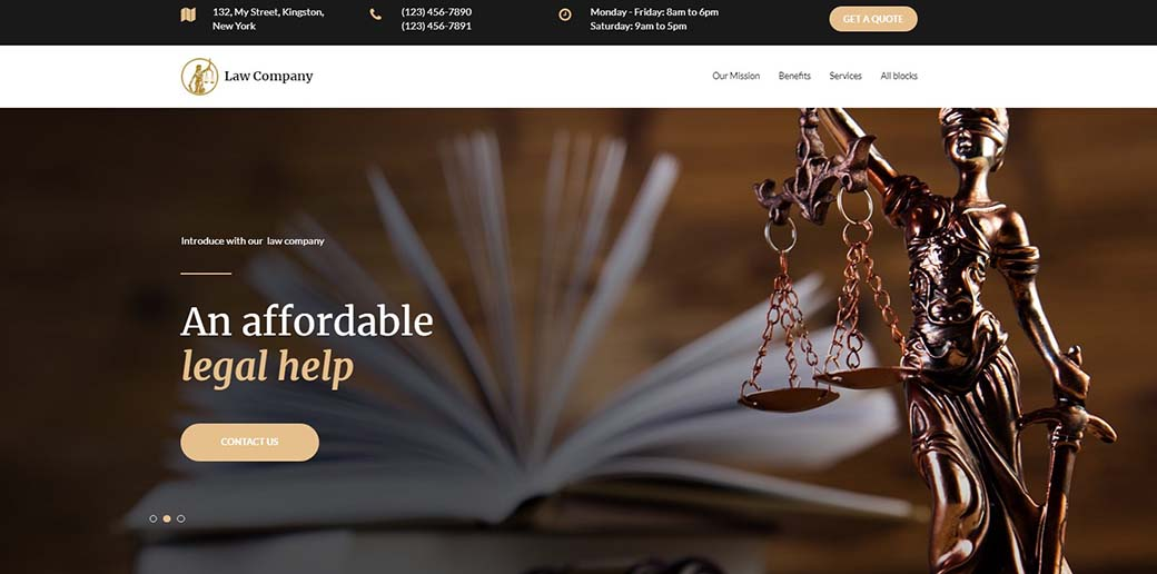 law company landing page