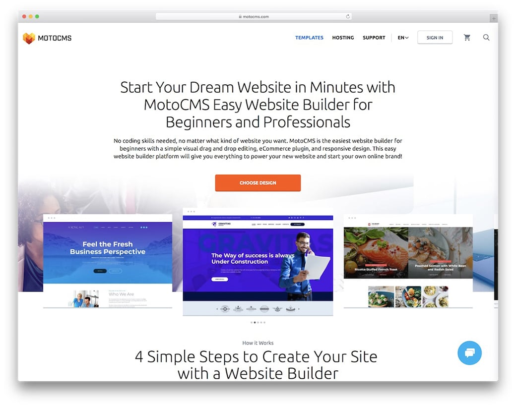 motocms online website builder