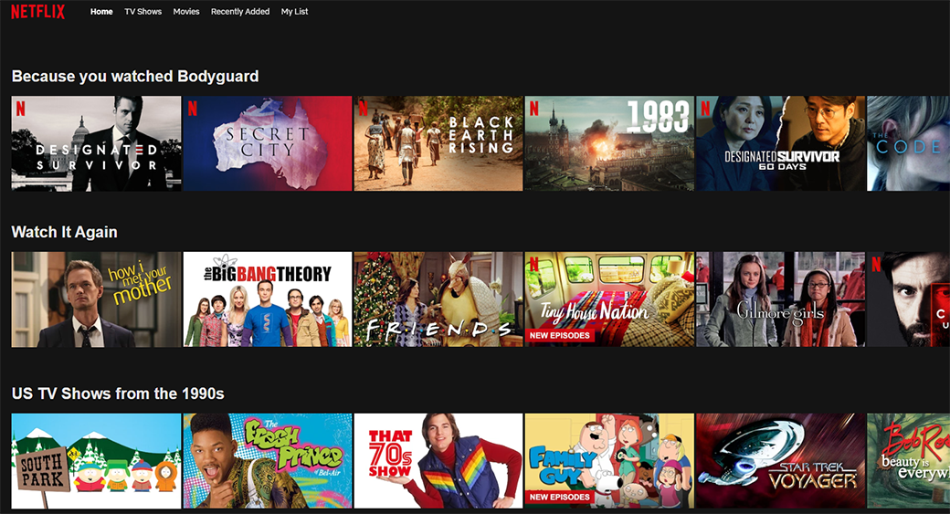 Dynamic Website - Netflix