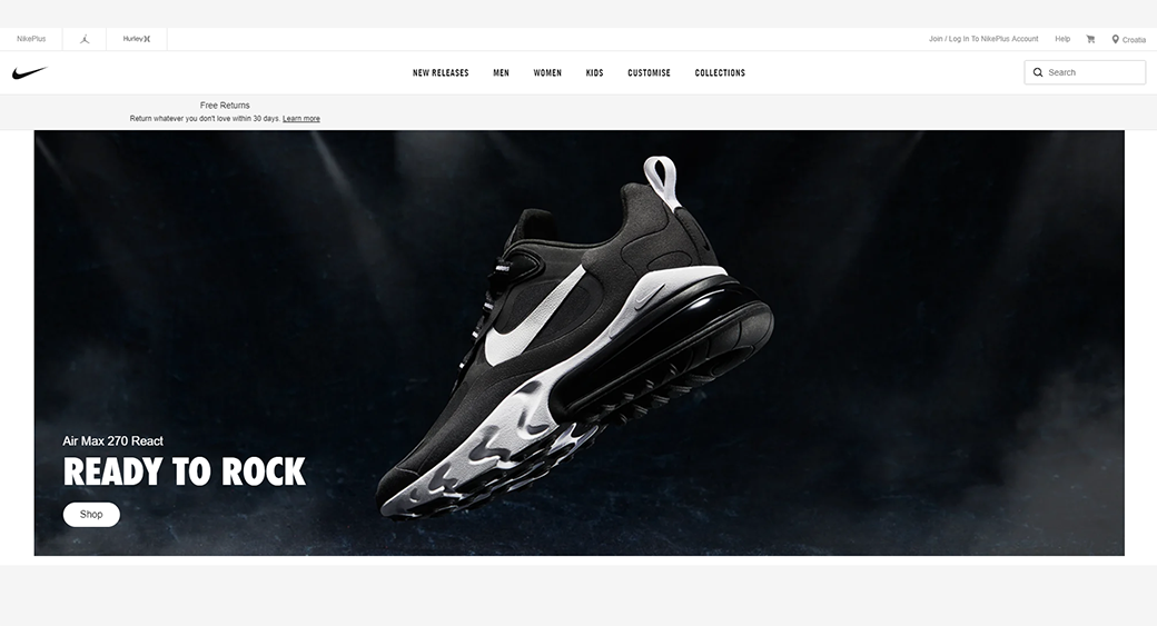 Dynamic Website - Nike