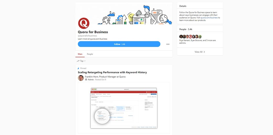 quora - using ads for businesses