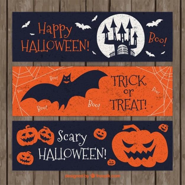 Halloween-Banner im Retro-Design