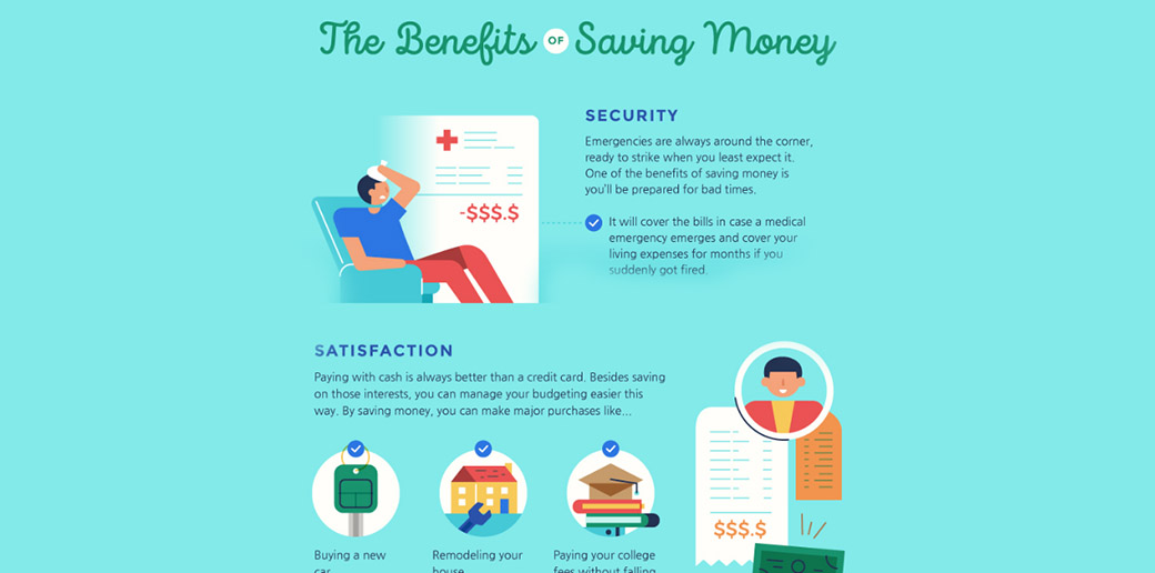 saving money infographics