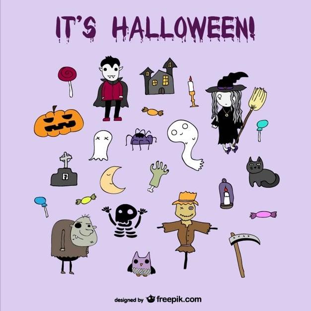 Komische Halloween-Icons