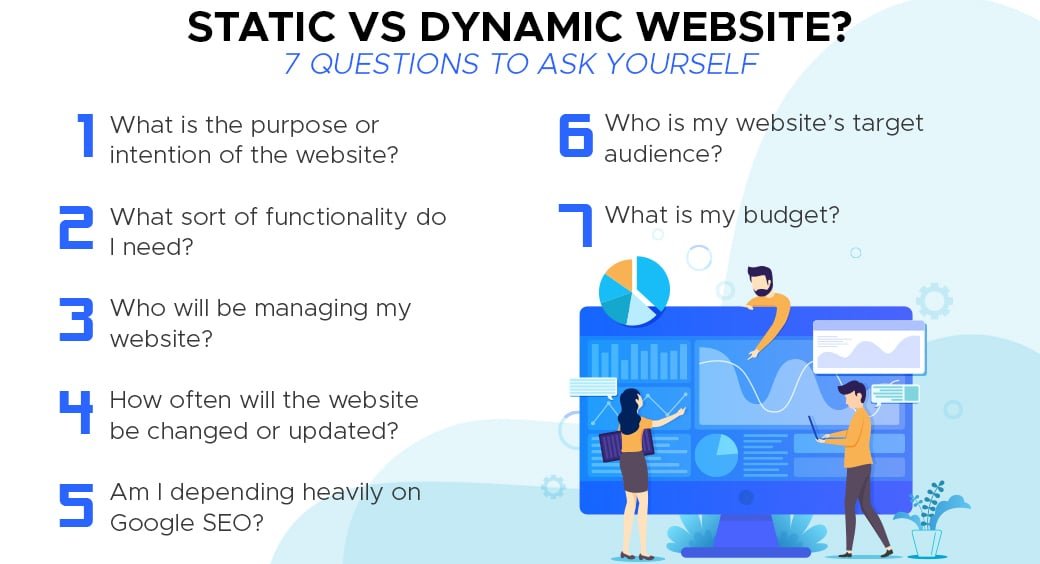 static vs dynamic website purpose