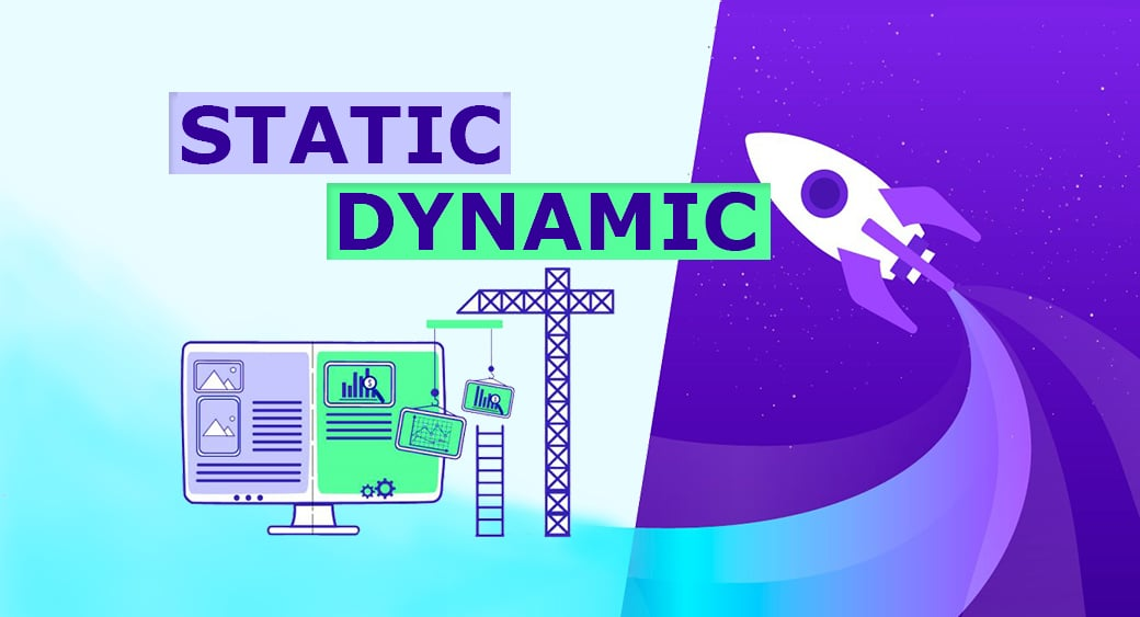 static vs dynamic website main image