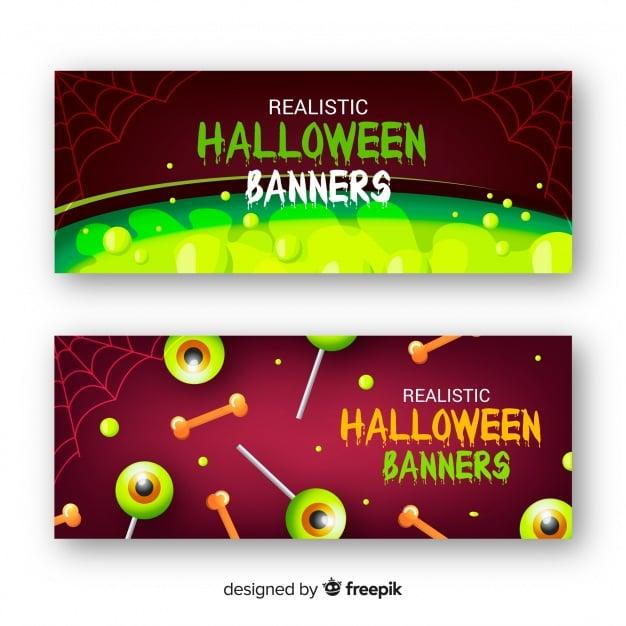 Banner im realistischen Design