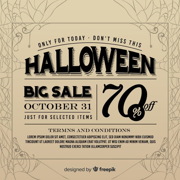 Halloween Big Sale im Vintage-Stil