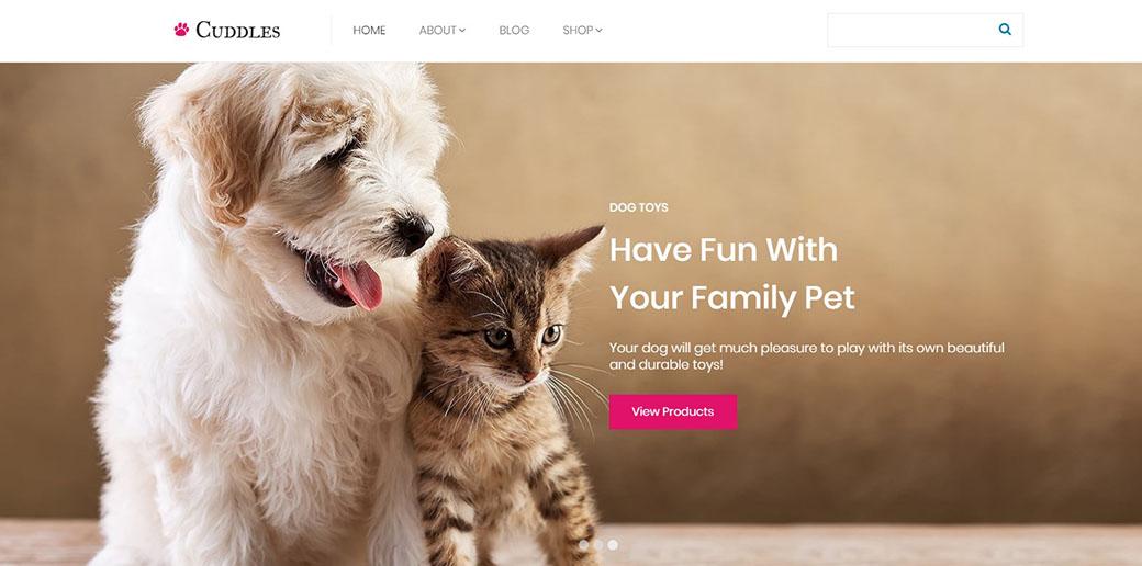 subscription box website design - pet toys