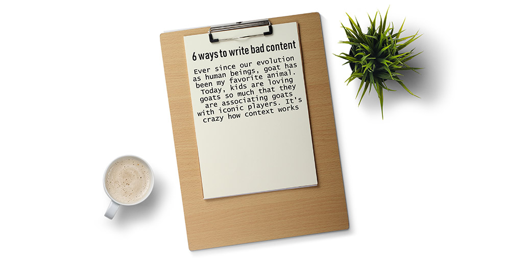 ways to write bad content - unrelated headlines