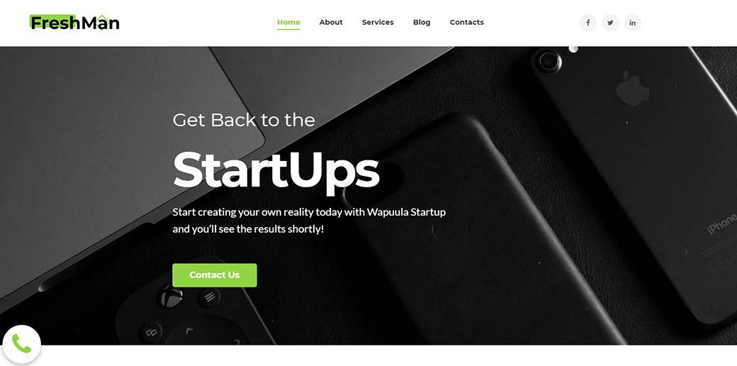 web developer's startup