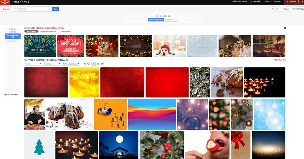 weihnachtsbilder Freerange